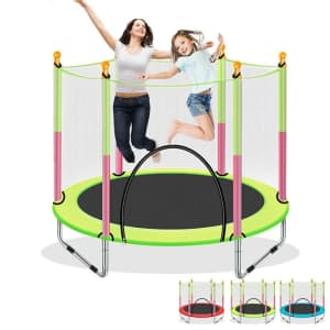 Kids' Trampoline with Enclosure for $69