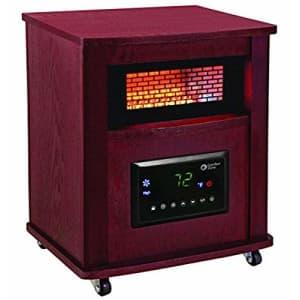 "Comfort Zone CZ2032C Infrared Quartz Wood Cabinet Heater, 16"", Cherry for $118"