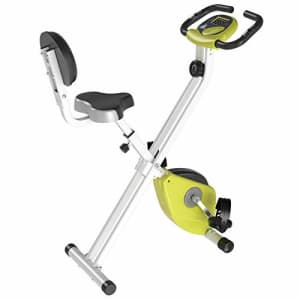 Soozier Foldable Upright Training Exercise Bike Indoor Stationary X Bike with 8 Levels of Magnetic for $105