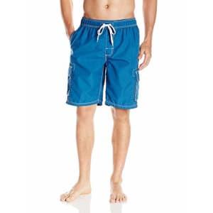 Kanu Surf Men's Barracuda Swim Trunks (Regular & Extended Sizes), Denim Blue, Medium for $18