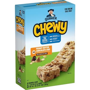 Quaker Oats Chewy Granola Bars 58-Pack for $9 via Sub & Save w/ Prime