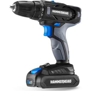 HammerHead 20V 2-Speed Cordless Drill Driver Kit for $46