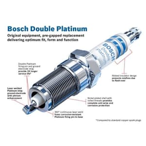 Bosch Automotive 8112 Double Platinum Spark Plug - Up to 3X Longer Life for Select Acura CL MDX TL; for $6