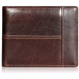 Swallowmall Men's RFID Leather Bifold Wallet for $10