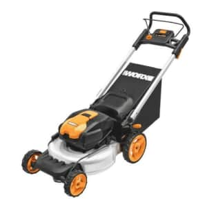 """Worx 56V 20"""" Cordless Electric Lawn Mower for $255"""