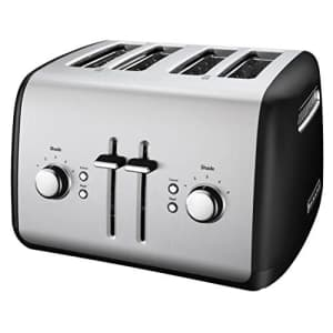 KitchenAid KMT4115OB Toaster with Manual High-Lift Lever, Onyx Black for $80