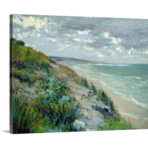 """GreatBigCanvas """"Cliffs by the Sea at Trouville"""" 30"""" x 24"""" Canvas Wall Art for $53"""
