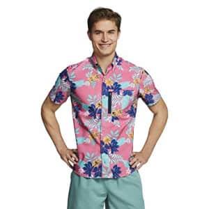 Speedo Men's Uv Swim Shirt Hybrid Button Down for $60