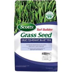 Scotts Turf Builder Grass Seed Heat-Tolerant Blue Mix 3-lb. Bag for $14