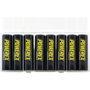 Powerex Low Self-Discharge Precharged AA Rechargeable Nimh Batteries, (MH-8AAP-BH) for $18
