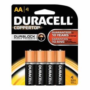 SEPTLS243MN1500B4Z - Duracell CopperTop Alkaline Batteries with DuraLock Power Preserve Technology for $4