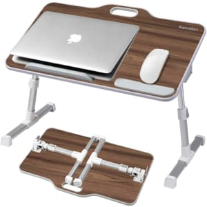 Kavalan Foldable Laptop Table w/ Top Handle for $46