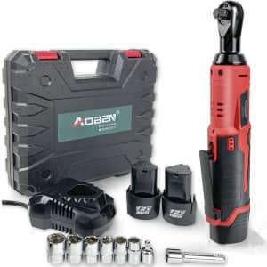 "Aoben 3/8"" 12V Cordless Electric Ratchet Wrench Set for $40"