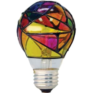 GE 25W Stained Glass Light Bulb for $7