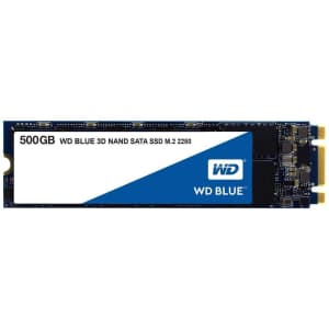 WD 500GB WD Blue 3D NAND Internal SSD for $55