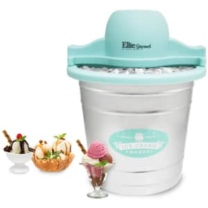 Elite Gourmet 4-Quart Old-Fashioned Electric Ice Cream Maker for $62