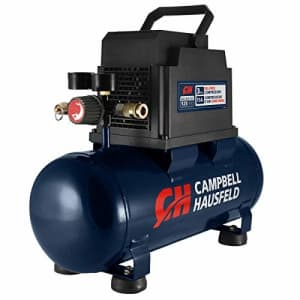 Campbell Hausfeld 3 gallon Air Compressor with Inflation Kit & Air Hose, 3 Gallon Portable for $146