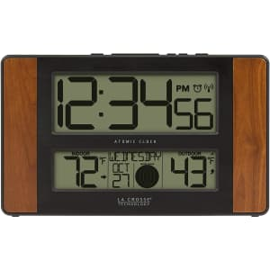 La Crosse Technology Atomic Digital Clock for $26