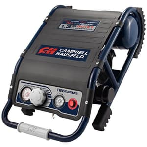 Campbell Hausfeld Quiet Air Compressor, Lightweight 29 Lbs, 1.3 gallon Slim Suitcase, Half The Noise, 4X The Life, for $427