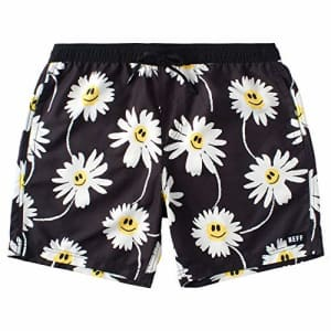 NEFF Men's Standard Daily Hot Tub Board Shorts for Swimming, Daisy/Black, X-Large for $38