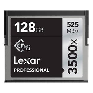 Lexar 128GB Professional 3500x CFast 2.0 Memory Card for 4K Video Cameras, Up to 525MB/s Read, Up for $150
