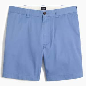 "J.Crew Factory Men's 7"" Reade Flex Khaki Shorts for $15"