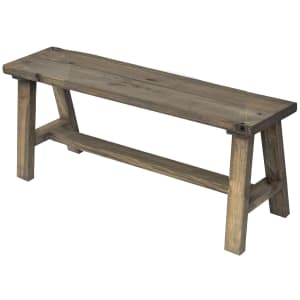 """Del Hutson Designs Classic Simple Sophistication 60"""" Solid Wood Bench for $95"""
