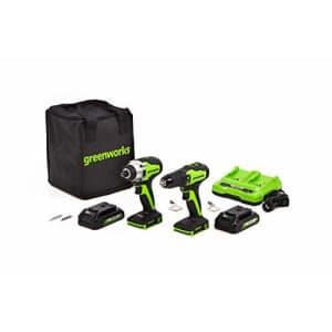 Greenworks CK24L220 Powertools Power Tools, Combo Kit, Green for $248