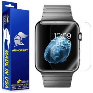 ArmorSuit MilitaryShield 42mm Screen Protector 2pk for Apple Watch for $9