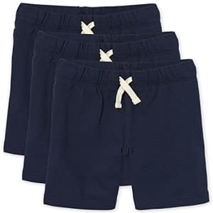 The Children's Place Boys' French Terry Shorts, Pack of Three, New Navy, S (5/6) for $24