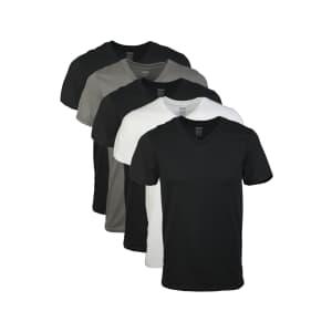 Gildan Men's V-Neck T-Shirt 5-Pack for $16