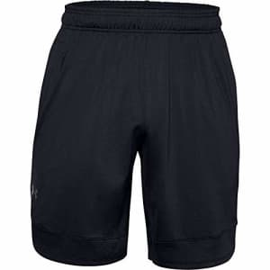 Under Armour Men's Training Stretch Shorts, Black (001)/Pitch Gray, Small for $28
