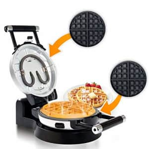 Secura Upgrade Automatic 360 Rotating Non-Stick Belgian Waffle Maker w/Removable Plates for $40