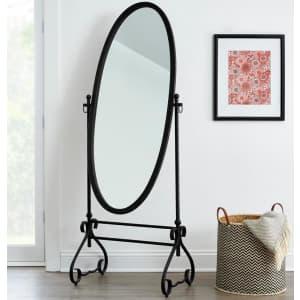 "StyleWell 67"" Oval Tilting Full-Length Standing Mirror for $96"