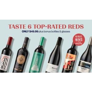 Laithwaites Wine Club: 6 + 2 Bottles of Wine w/ 2 Glasses for $50