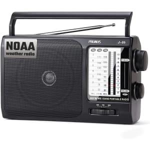 Prunus Portable AM/FM NOAA Weather Radio for $8
