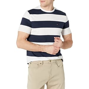 Tommy Hilfiger Men's Short Sleeve Graphic T Shirt, Sky Captain_pt, X-Small for $18