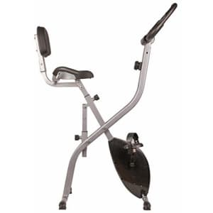 BalanceFrom X1 Folding Magnetic Upright Exercise Bike with Pulse Sensors and LCD Display, Silver for $191