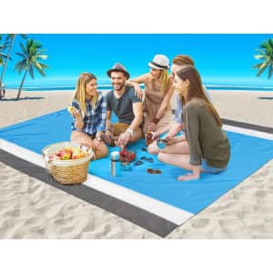 Aisparky Quick Dry Sand Proof Beach Blanket for $9