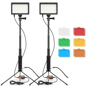 Samtian 96 LED Video Light Kit for $36