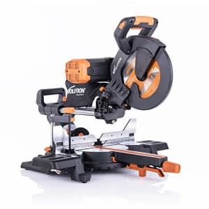 Evolution Power Tools R255SMSDB+ 15 Amp 10 in. Premium Dual Bevel Sliding Miter Saw w/Laser and for $351