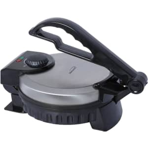 """Brentwood Appliances 8"""" Stainless Steel Nonstick Electric Tortilla Maker for $33"""