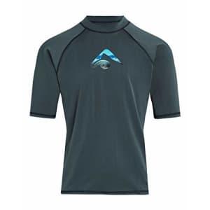 Kanu Surf Men's Mercury UPF 50+ Short Sleeve Sun Protective Rashguard Swim Shirt, Nova Charcoal, for $20