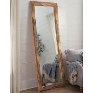 """Home Decorators Collection 76"""" x 31"""" Oversized Wood Frame Floor Mirror for $279"""