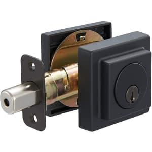 AmazonBasics Contemporary Square Deadbolt Door Lock for $25