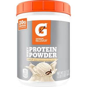 Gatorade Whey Protein Powder, Vanilla, 19.7 Ounce (20 servings per canister, 20 grams of protein for $20