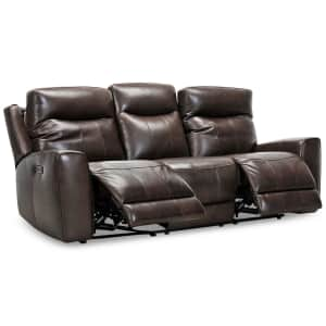 """Bitola 86"""" Top Grain Leather Dual Power Reclining Sofa for $1,299"""