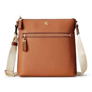 Lauren Ralph Lauren Leather Jetty Crossbody for $96