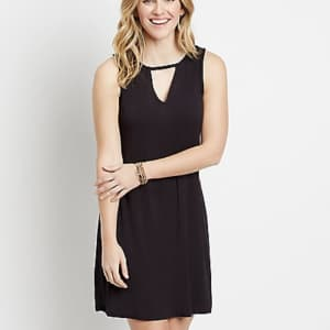 Maurices Women's 24/7 Keyhole Shift Dress for $12