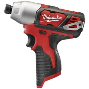 """Milwaukee M12 12V Cordless 1/4"""" Hex Impact Driver for $40"""
